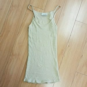 Michael Stars shimmery gold tank top one size